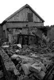 Abandoned house. Destroyed, devastated a large abandoned house Stock Photos