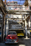 Abandoned house and destroyed in Old Havana Stock Photography