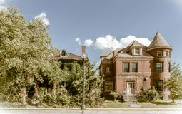 Abandoned house in Detroit. One of the many streets in the center of Detroit, Michigan with abandoned houses royalty free stock photography