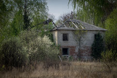 Abandoned house in the exclusion zone of the Chernobyl NPP. Royalty Free Stock Images