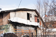 Abandoned house after fire Stock Image