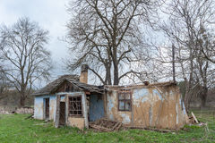 Abandoned house. Forgotten and abandoned ruined house. At present it has gone completely and perhaps another new one is going to be build Royalty Free Stock Photography