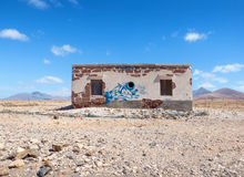 Abandoned house in Fuerteventura Stock Photos