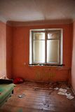 Abandoned house getting ready for demolition. 2017 stock images