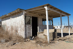 Abandoned house in the ghost town of bombay beach california Stock Photos