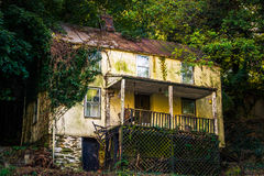 Abandoned house in Harper's Ferry , West Virginia. Royalty Free Stock Photography