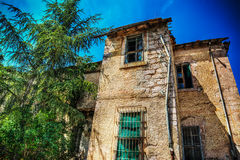 Abandoned house in hdr Stock Photos