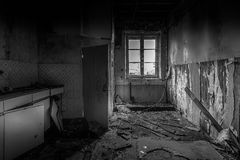 Abandoned. House in Heythuysen, Netherlands Royalty Free Stock Photos