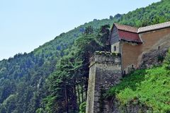 Abandoned House on the Hill in Nature royalty free stock photo