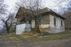 Abandoned house hill Stock Image