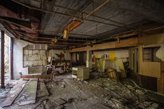 Abandoned House Interior In Chernobyl Royalty Free Stock Photo