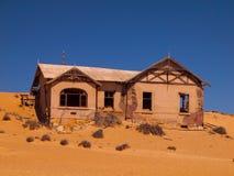 Abandoned house in Kolmanskop ghost village Stock Images