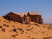 Abandoned house in Kolmanskop ghost village Royalty Free Stock Photography