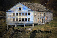 Abandoned house left in decay, Svalbard Royalty Free Stock Image