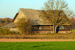 Abandoned house. In Lithuania Village near the road Stock Images