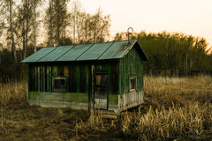 Abandoned house. A lonely and abandoned hut in the forest Royalty Free Stock Photography