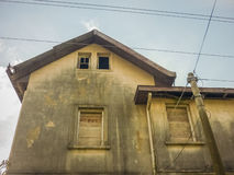 Abandoned House Low Angle View Royalty Free Stock Photos