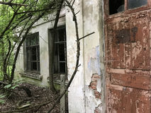 Abandoned house. Near Chernobyl Ukraine stock photos