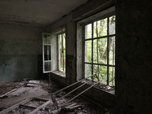 Abandoned house. Near Chernobyl Ukraine stock photography