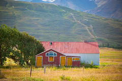 Abandoned House at North Iceland foothill Royalty Free Stock Image