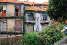 Abandoned house. In Porto, Portugal Stock Image