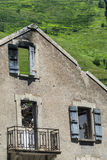Abandoned house in Pyrenees (France) Stock Photo