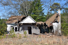 Abandoned House Ruin. A grunge abandoned house ruin royalty free stock images