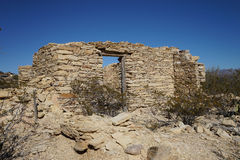 Abandoned house ruin in terlingua ghost town texas. Abandoned stone dwelling in terlingua ghost town texas usa Royalty Free Stock Photo