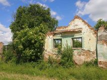 Abandoned house. A ruined house in an deserted village Royalty Free Stock Images