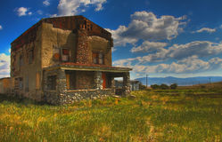 Abandoned house. Abandoned ruined house in HDR Royalty Free Stock Images