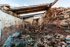 Abandoned house in ruins Stock Photos