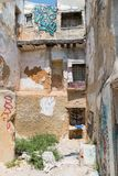 Abandoned house, ruins, graffiti and Street art in a street of Lisbon, Portugal. Graffiti and Street art in a street of Lisbon, Portugal. Colorful and creative stock photos