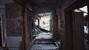 Abandoned house in Russia stock photo