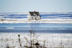 Abandoned House by the Sea Royalty Free Stock Images
