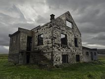 Abandoned house in Snaefellsnes peninsula stock photography