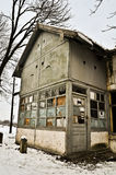 Abandoned house. With snow, in Romania Stock Photography
