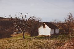 Abandoned house in southern Serbia Stock Images