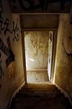 Abandoned house staircase Royalty Free Stock Photos