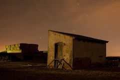 Abandoned house with stars Royalty Free Stock Images