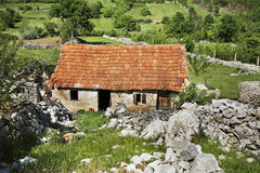 Abandoned house in Studenci. Bosnia and Herzegovina Royalty Free Stock Photo