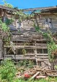 Abandoned House. In sunny day and blue sky Stock Photography