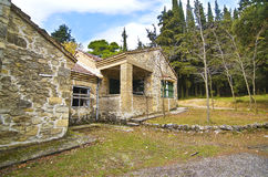 Abandoned house of Tatoi Palace in Attica Greece. Abandoned house of Tatoi Palace, the place where stayed the former greek Royal family, in Attica Greece Stock Image