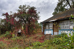 Abandoned house in ukrainian village Stock Images