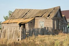 Abandoned house in village Stock Photos