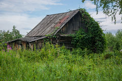 Abandoned house in the village Stock Images