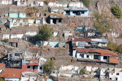 Abandoned Houses. View of abandoned houses at suburbs in Ankara, Turkey Stock Images