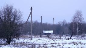 Abandoned houses in closed radioactive territories 2 stock video
