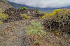 Abandoned Houses In El Hierro Island Royalty Free Stock Photo