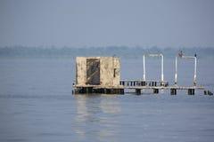 Abandoned houses lifted up from the lake Maracaibo, Venezuela Stock Photo