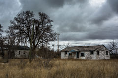 Abandoned houses in Moriarty, New Mexico. Stock Photo